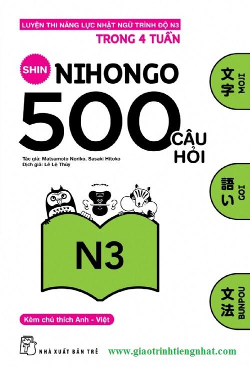 Lifestyle designShin nihongo 500 câu hỏi N3 - Có tiếng Việt