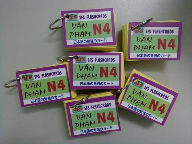 Thẻ Học Ngữ Pháp Tiếng Nhật N4 – 1 xấp, SFS Flashcard