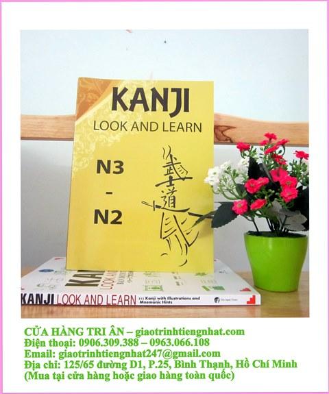 Kanji Look and Learn N3 và N2 – Sách Bài học Tập 1 – Nhật Việt