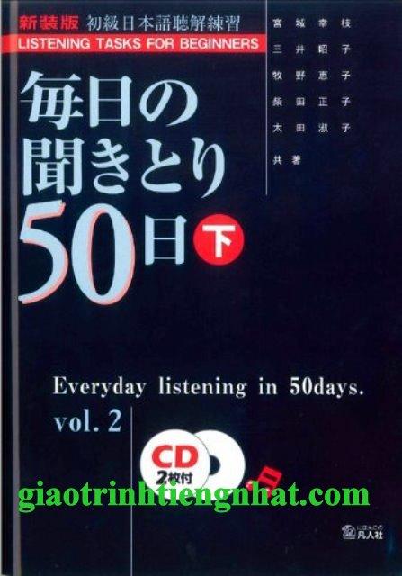 Lifestyle designSách Học Tiếng Nhật Mainichi no Kikitori 50 Nichi Vol 2 (50 Bài Nghe Tập 2)