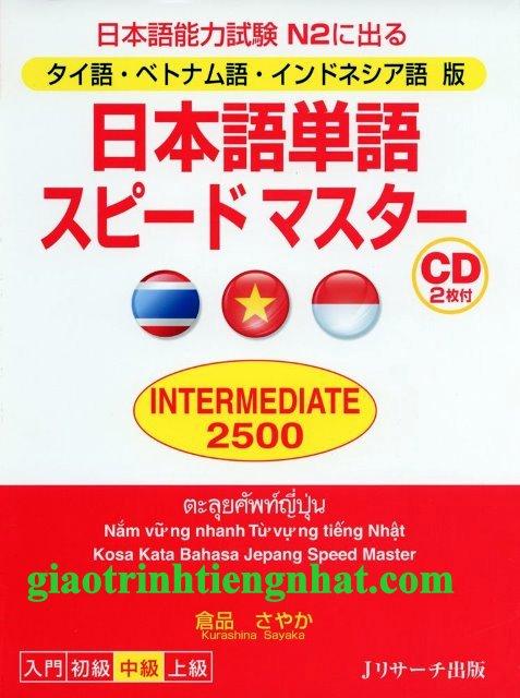 Nihongo tango speed master N2 Intermediate 2500 – Có tiếng Việt (Kèm CD)