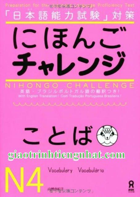 Sách luyện thi N4 Nihongo charenji Từ vựng
