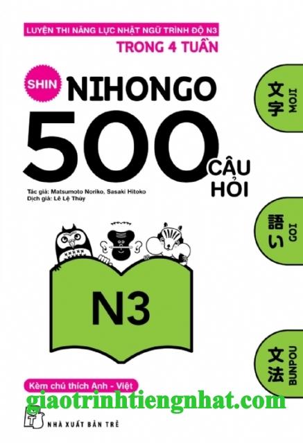 Lifestyle designSách Luyện Thi N3 Shin Nihongo 500 Câu Hỏi (Có Tiếng Việt)