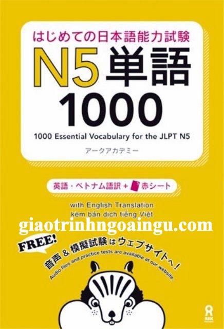 Sách luyện thi N5 Hajimete no nihongo Tango 1000 – Bản Nhật Việt (Kèm CD)