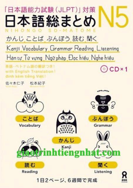 Sách luyện thi N5 Soumatome Tổng hợp (Kèm CD) – Bản Nhật Việt