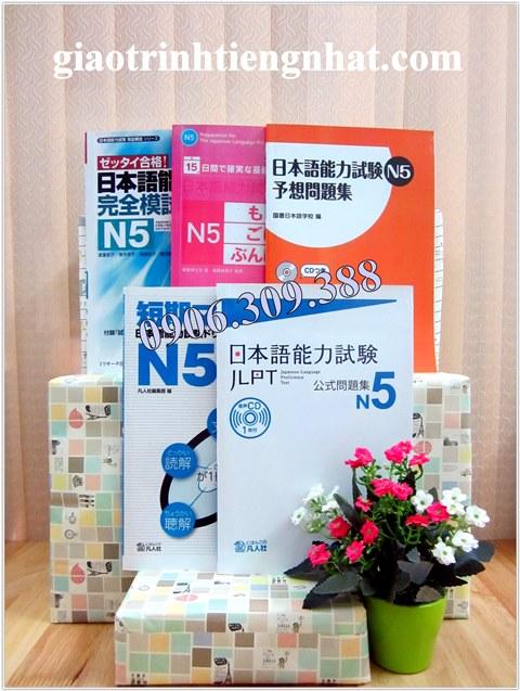 Bộ đề thi mẫu N5 – 5 cuốn (mới)