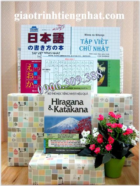 Bộ sách học chữ cái tiếng Nhật – 4 cuốn