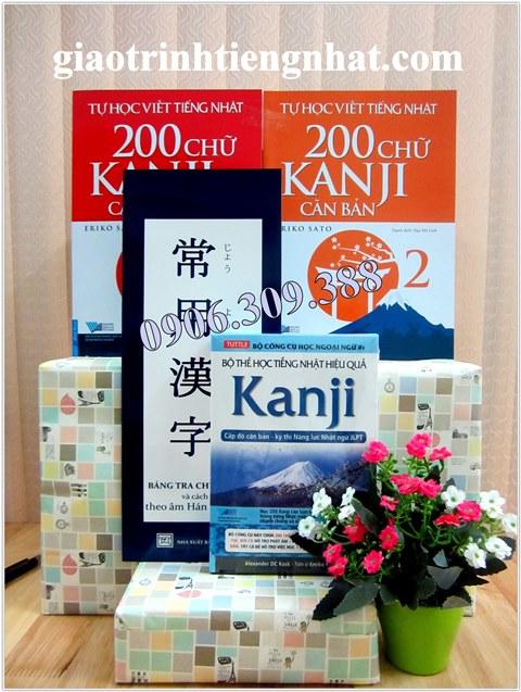 Bộ sách học Kanji cho người mới bắt đầu – 4 cuốn