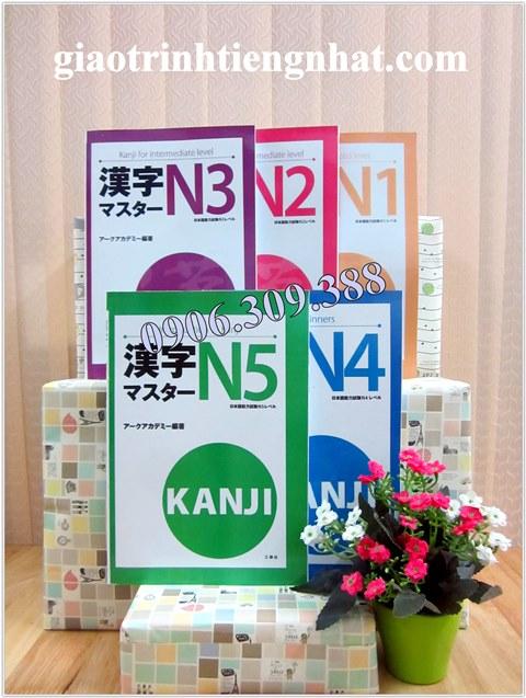 Trọn Bộ Sách Luyện Thi Kanji Master – 5 Cuốn (Hán Tự N5 Đến N1)