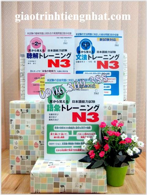 Lifestyle designTrọn Bộ Sách Luyện Thi N3 Mimi Kara Oboeru – 3 Cuốn (Goi, Bunpou, Choukai)