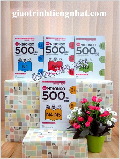 Nihongo 500 câu hỏi – Trọn bộ 4 cuốn – Có tiếng Việt