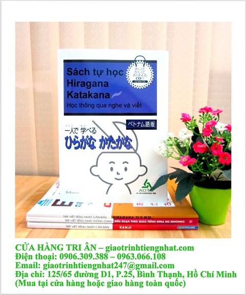 Sách Học Tiếng Nhật Sách Tự Học Hiragana Katakana Học Thông Qua Nghe Và Viết (Có Tiếng Việt)