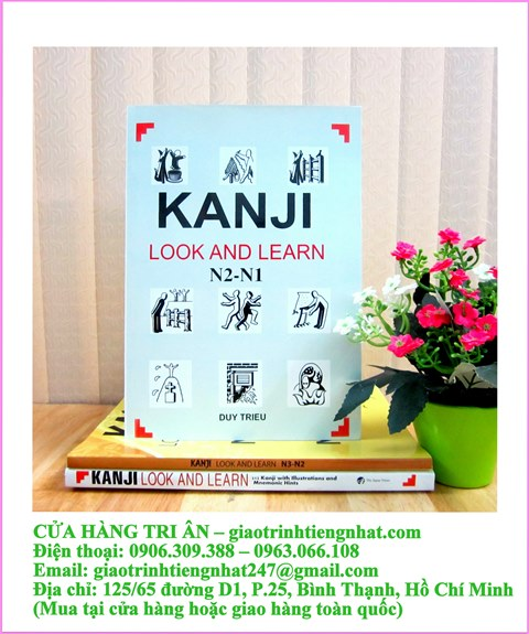 Sách Luyện Thi N1 và N2 Kanji Look and Learn (Có Tiếng Việt)