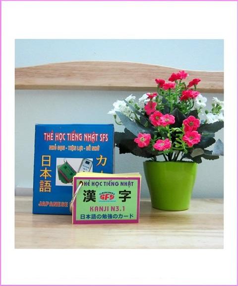 Thẻ Học Kanji Tiếng Nhật N3 – 4 xấp, SFS Flashcard