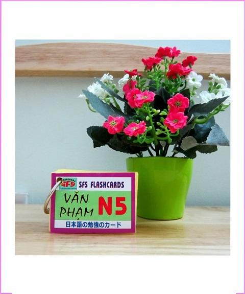 Thẻ Học Ngữ Pháp Tiếng Nhật N5 – 1 xấp, SFS Flashcard