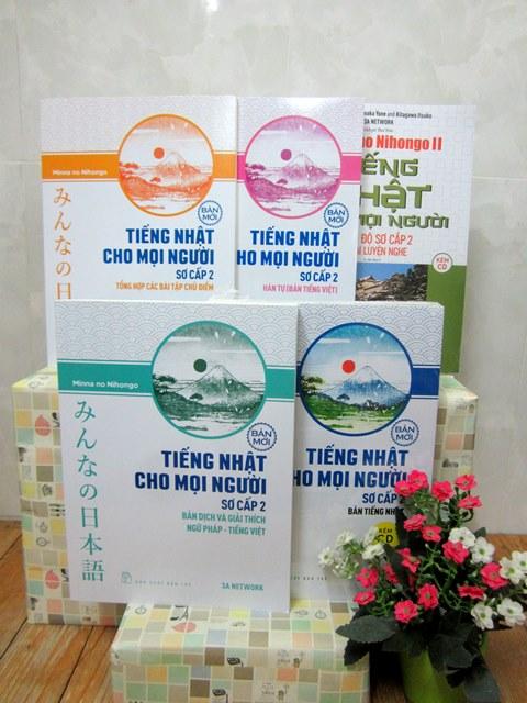 Bộ sách tiếng Nhật cho mọi người Trình độ Sơ cấp 2 – Trọn bộ 5 cuốn – Bìa mới 2018
