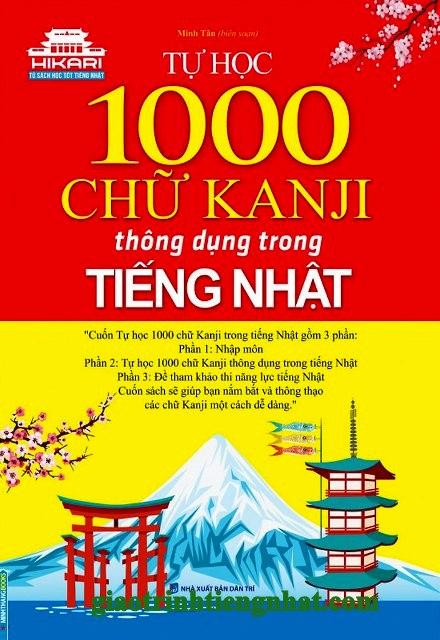 Lifestyle designSách Học Tiếng Nhật Tự Học 1000 Chữ Kanji Thông Dụng Trong Tiếng Nhật (Có Tiếng Việt)