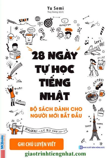 Lifestyle designSách Học Tiếng Nhật 28 Ngày Tự Học Tiếng Nhật – Sách Bài Tập Ghi Chú Luyện Viết (Có Tiếng Việt)
