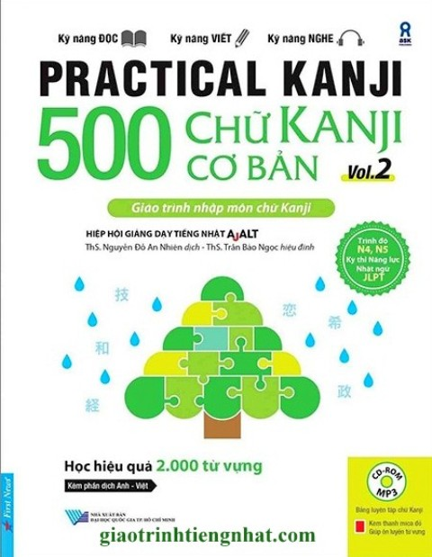 Lifestyle designSách Học Tiếng Nhật 500 Chữ Kanji Cơ Bản Vol 2 (Có Tiếng Việt)