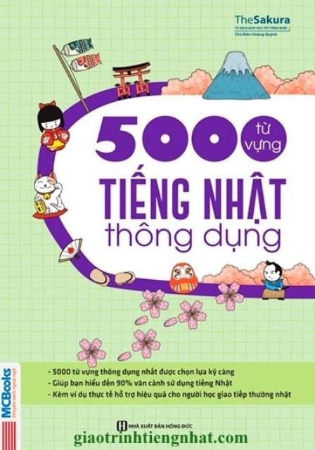 Lifestyle designSách Học Tiếng Nhật 5000 Từ Vựng Tiếng Nhật Thông Dụng (Có Tiếng Việt)