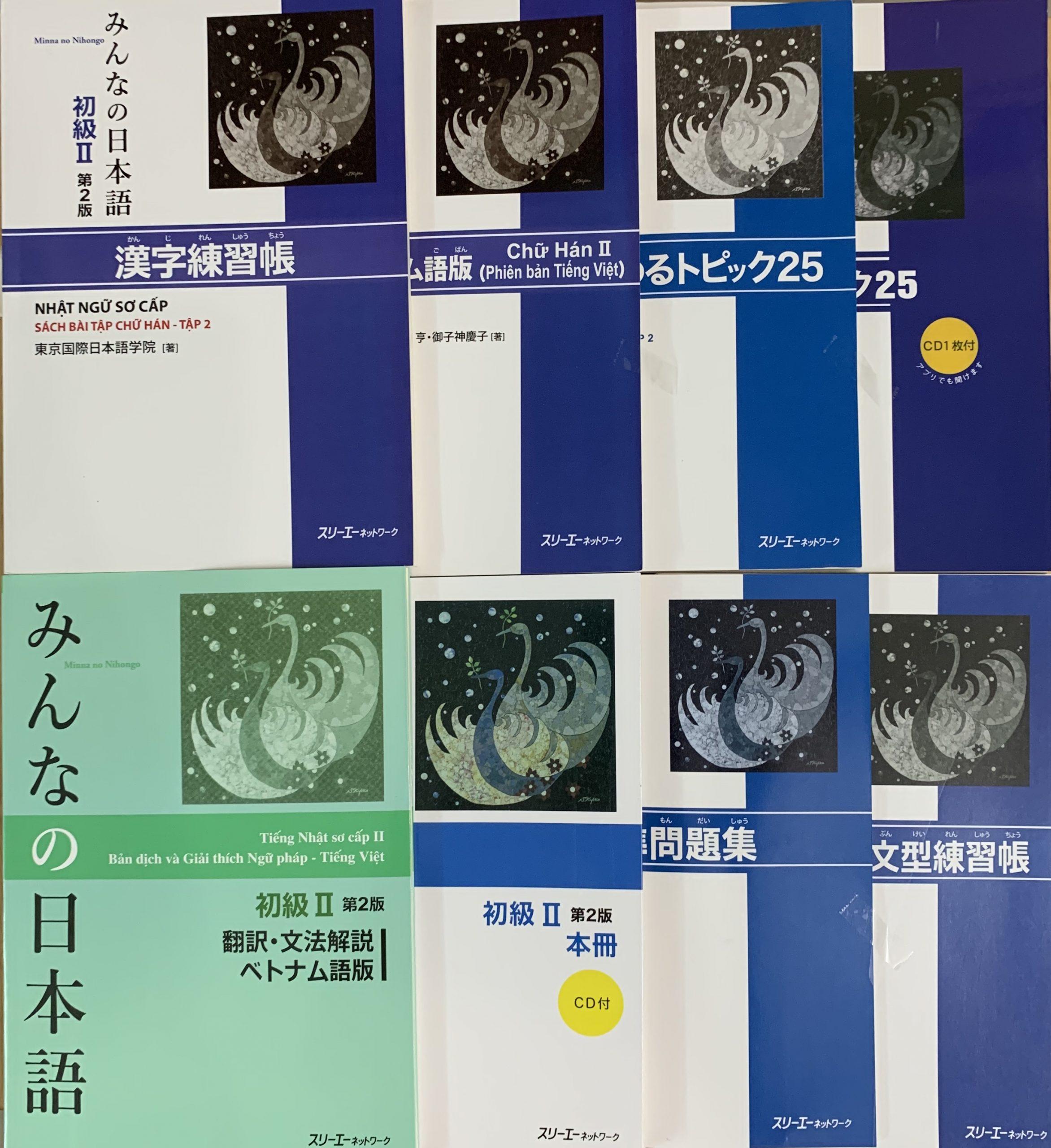 Trọn Bộ Minna No Nihongo Sơ Cấp 2 Bản Mới (Cấp Độ N4 – 8 Cuốn)