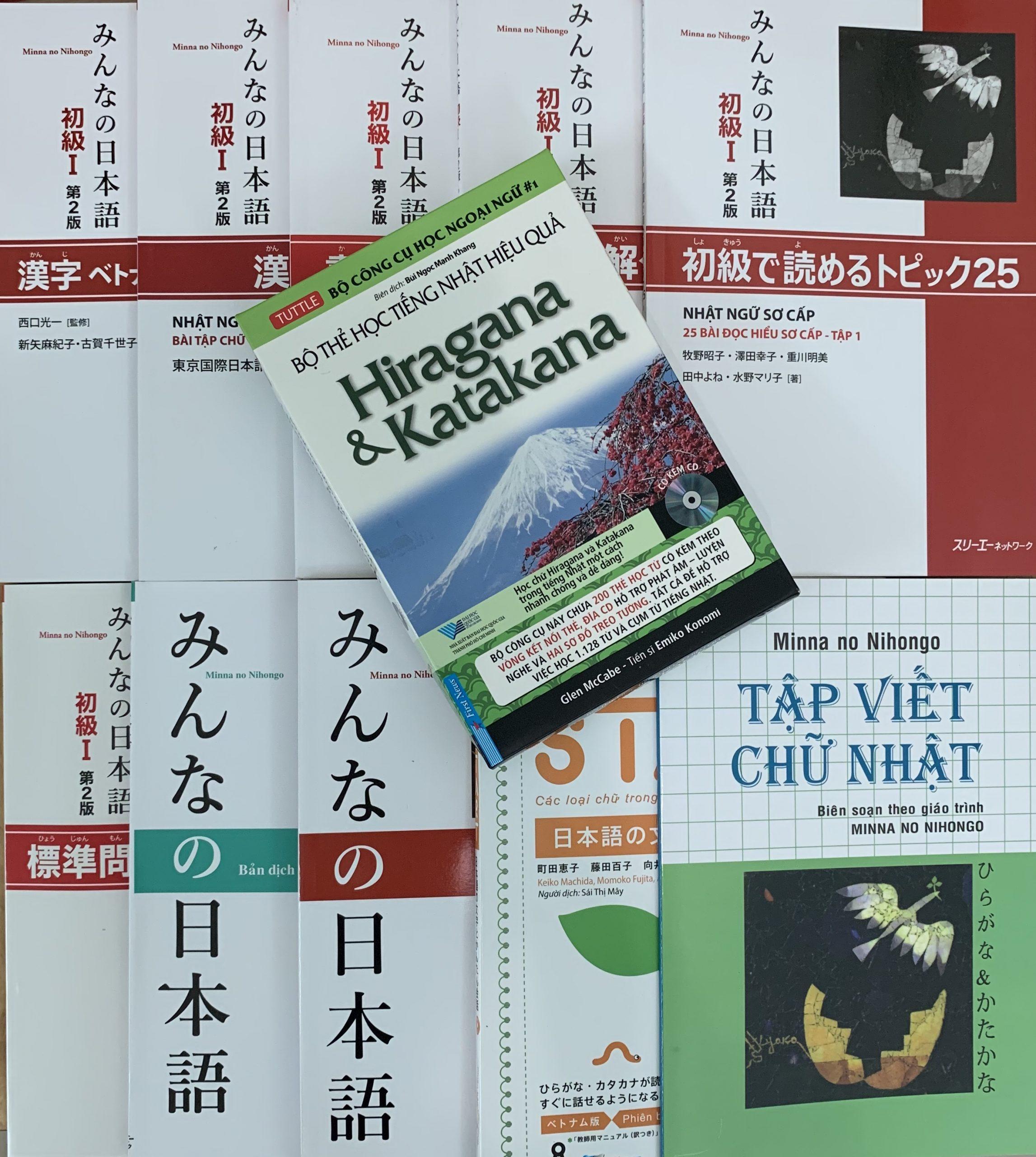Bộ Sách Học Tiếng Nhật Cho Người Mới Bắt Đầu – Học Chuyên Sâu – 11 Cuốn