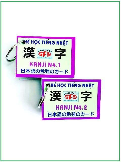Lifestyle designFlashcards Thẻ Học Tiếng Nhật Thẻ Kanji N4 – SFS Flashcards – 2 Xấp