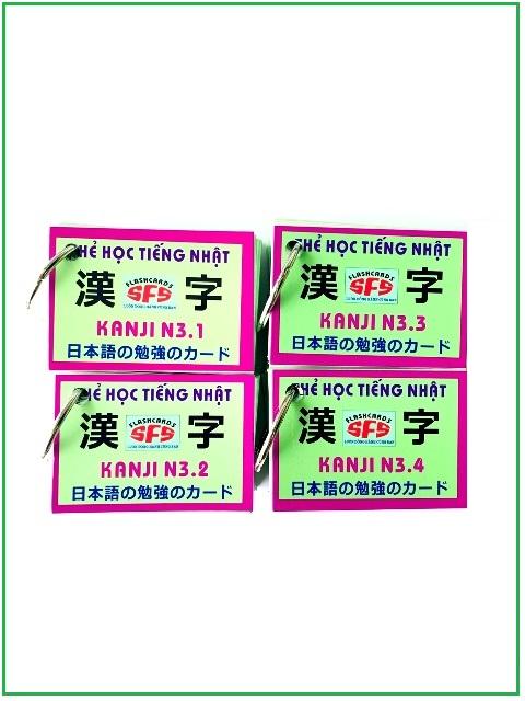 Lifestyle designFlashcards Thẻ Học Tiếng Nhật Thẻ Kanji N3 – SFS Flashcards – 4 Xấp