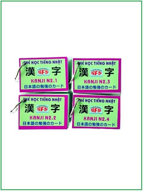 Flashcards Thẻ Học Tiếng Nhật Thẻ Kanji N2 – SFS Flashcards – 4 Xấp
