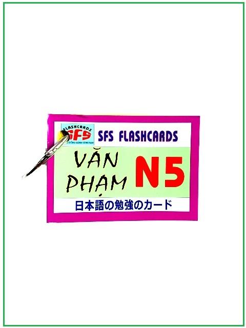 Lifestyle designFlashcards Thẻ Học Tiếng Nhật Thẻ Ngữ Pháp N5 – SFS Flashcards – 1 Xấp