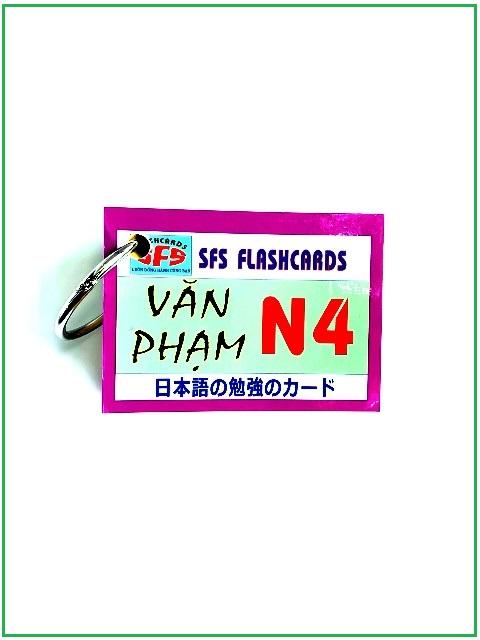 Lifestyle designFlashcards Thẻ Học Tiếng Nhật Thẻ Ngữ Pháp N4 – SFS Flashcards – 1 Xấp