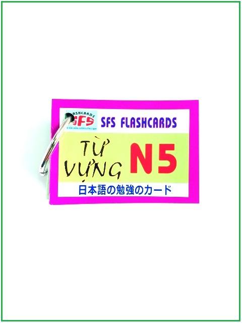 Lifestyle designFlashcards Thẻ Học Tiếng Nhật Thẻ Từ Vựng N5 – SFS Flashcards – 1 Xấp