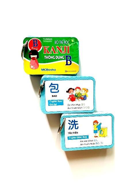 Flashcards Thẻ Học Tiếng Nhật Bộ Thẻ Học Kanji Thông Dụng B