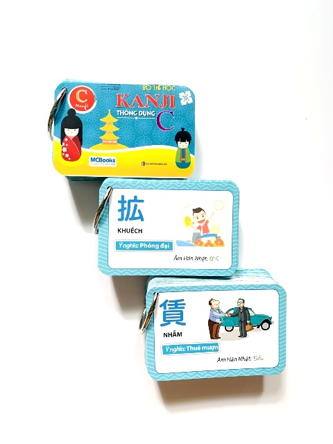 Flashcards Thẻ Học Tiếng Nhật Bộ Thẻ Học Kanji Thông Dụng C