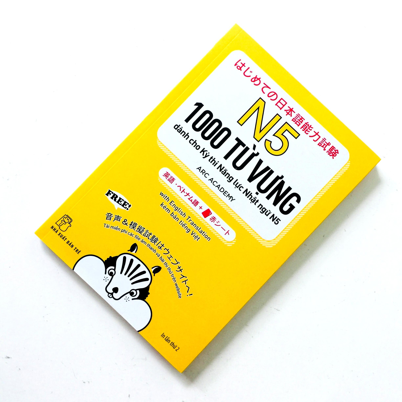 Sách Luyện Thi N5 Hajimete no Nihongo Tango 1000 (1000 Từ Vựng Dành Cho Kỳ Thi Năng Lực Nhật Ngữ N5 – Có Tiếng Việt – Kèm Card Đỏ)