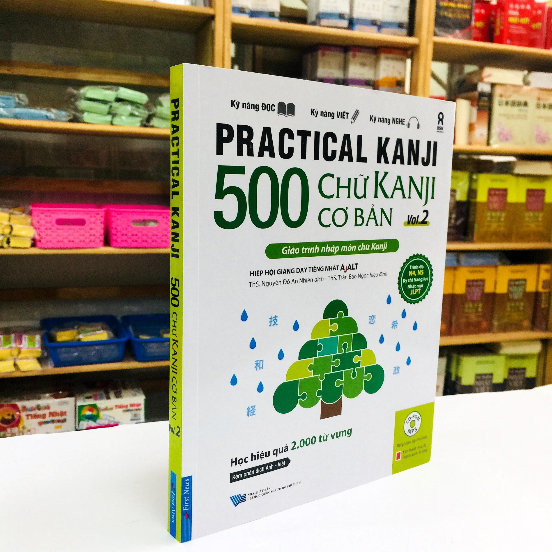 Sách Học Tiếng Nhật 500 Chữ Kanji Cơ Bản Vol 2 (Có Tiếng Việt)