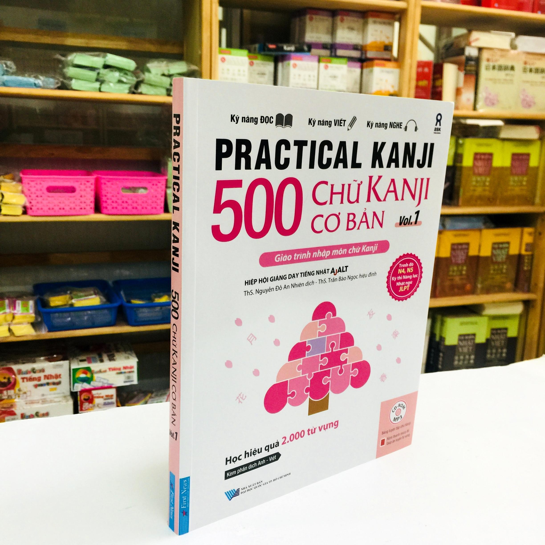 Sách Học Tiếng Nhật 500 Chữ Kanji Cơ Bản Vol 1 (Có Tiếng Việt)