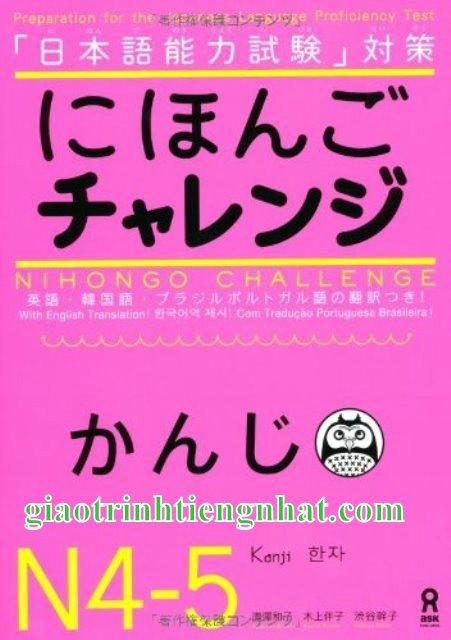Lifestyle designSách Luyện Thi N4 và N5 Nihongo Charenji Hán Tự (Kanji)