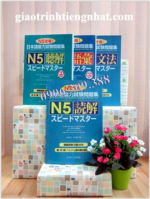Bộ Sách Speed Master N5 – 4 Cuốn (Dokkai, Choukai, Bunpou, Goi – Có Tiếng Việt)
