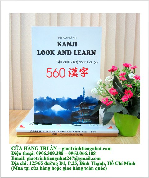 Sách Luyện Thi N2 và N3 Kanji Look and Learn Bài Tập Tập 2 (560 Chữ – Có Tiếng Việt)