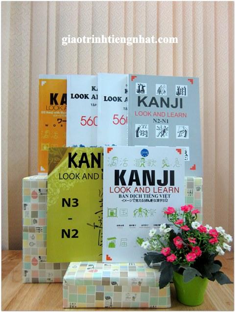Trọn Bộ Sách Luyện Thi Kanji Look and Learn – 6 Cuốn (Hán Tự N5 Đến N1 – Có Tiếng Việt))