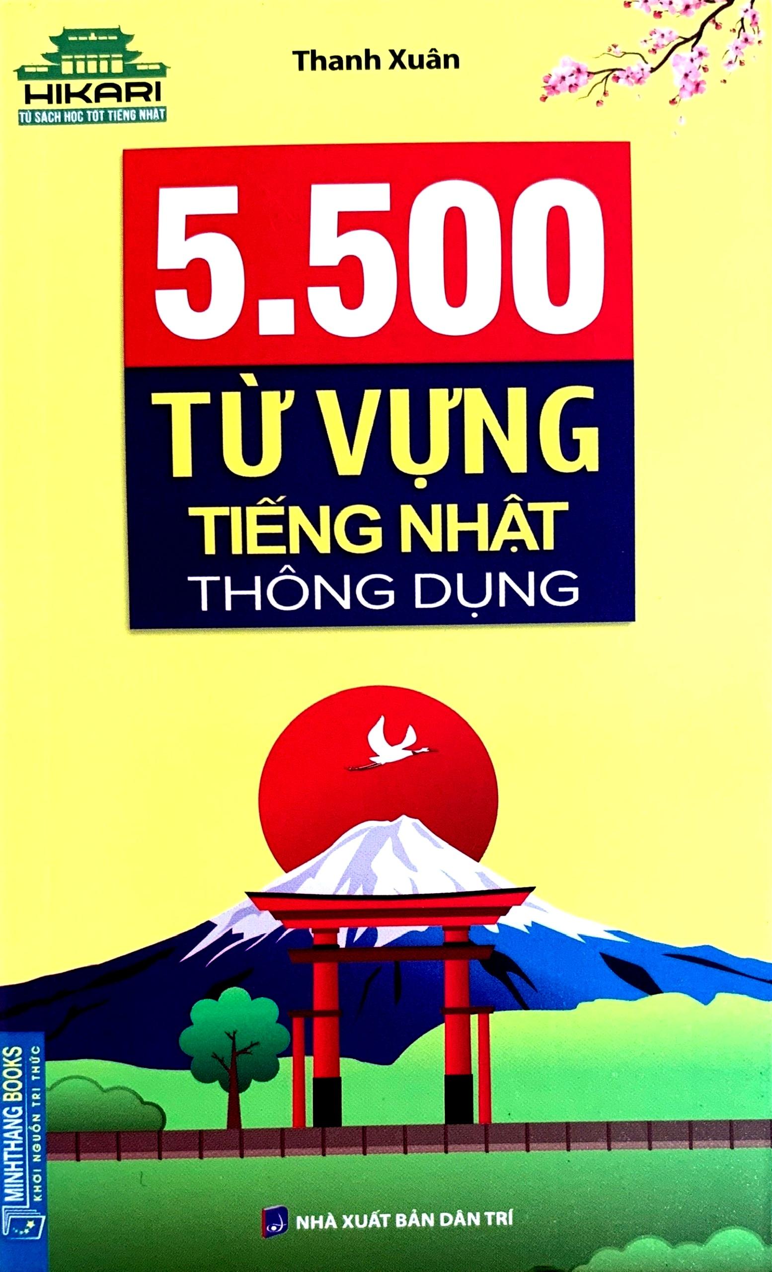 Lifestyle designSách Học Tiếng Nhật 5500 Từ Vựng Tiếng Nhật Thông Dụng (Có Tiếng Việt)