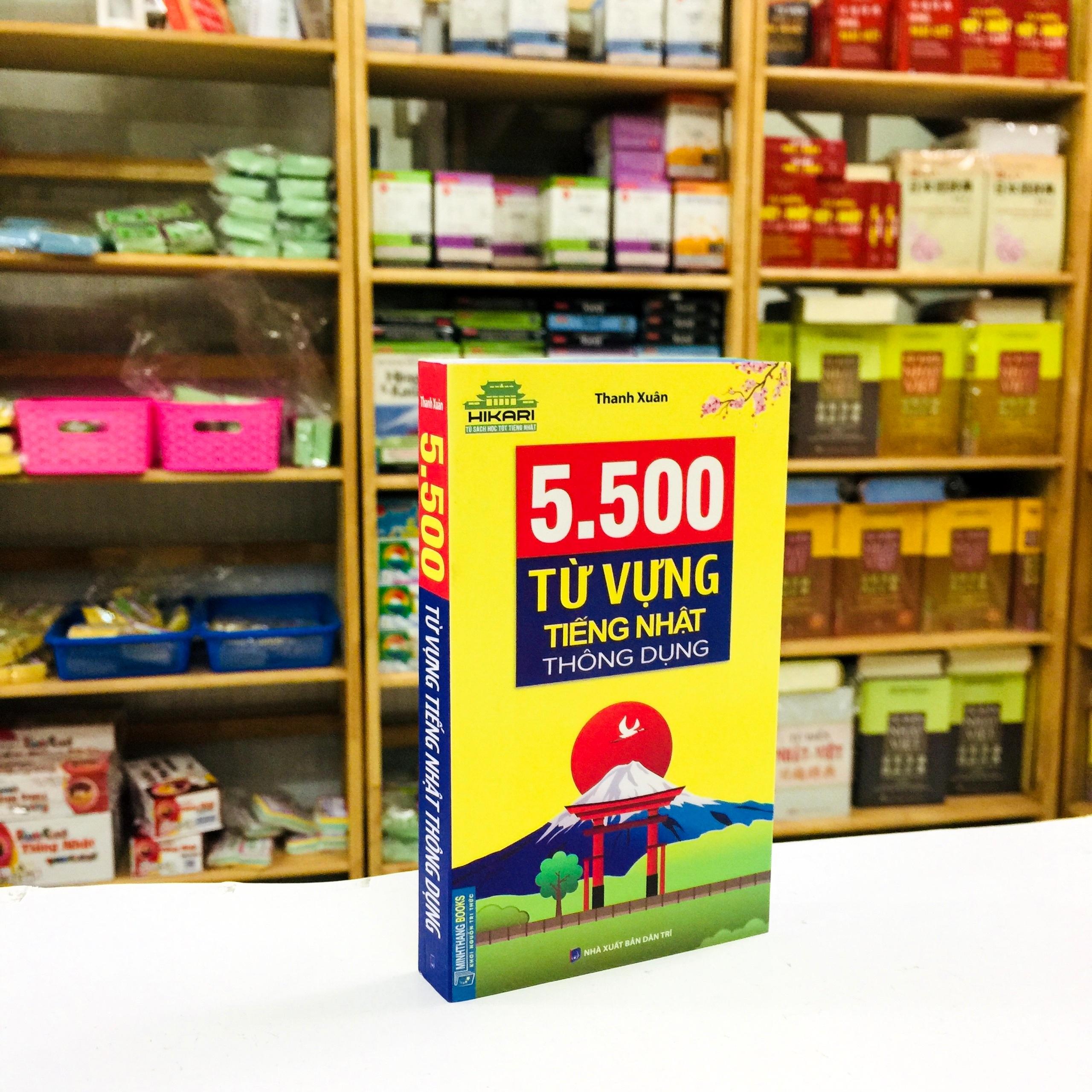 Sách Học Tiếng Nhật 5500 Từ Vựng Tiếng Nhật Thông Dụng (Có Tiếng Việt)
