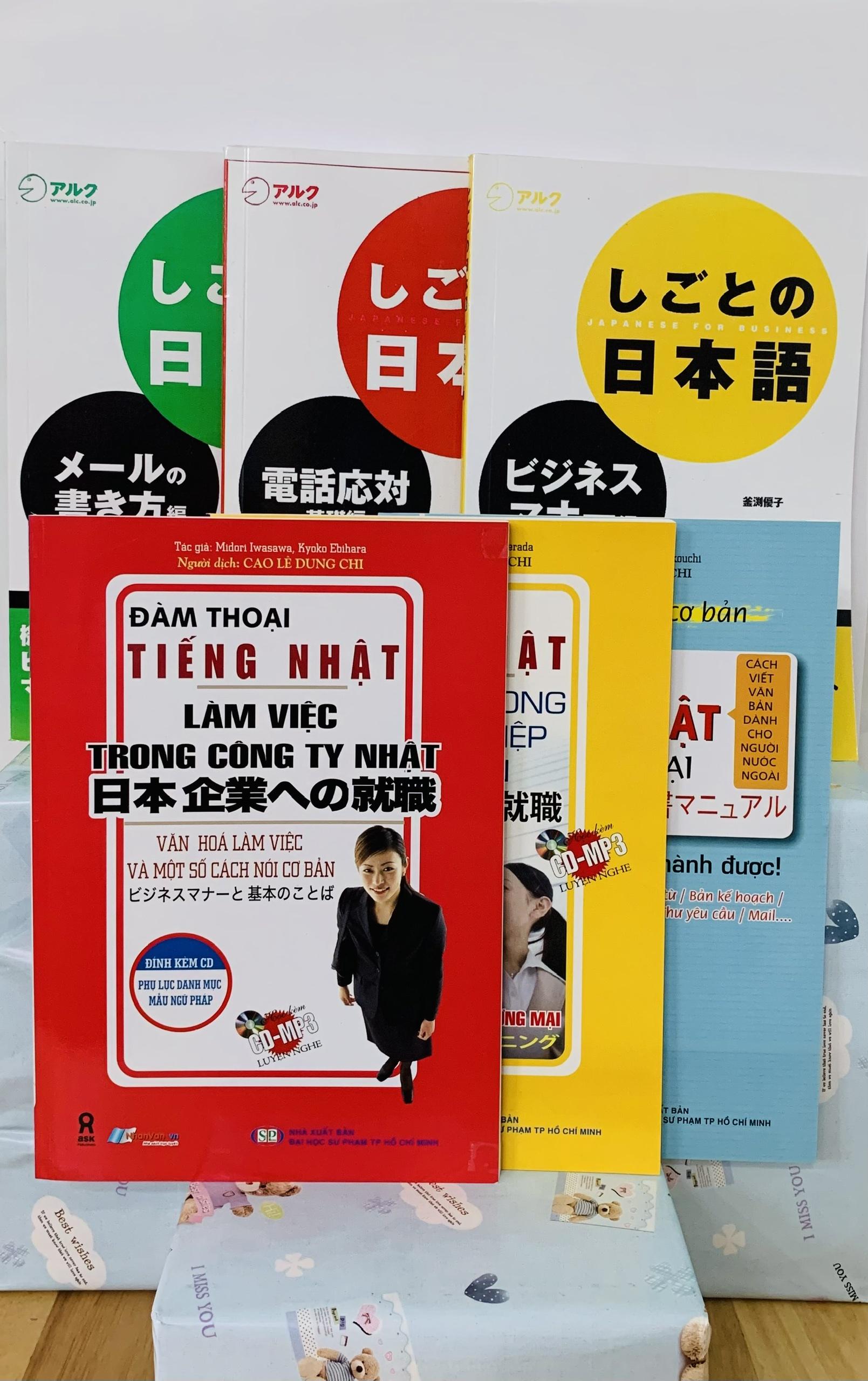 Bộ Sách Tiếng Nhật Cho Người Đi Làm – 6 Cuốn